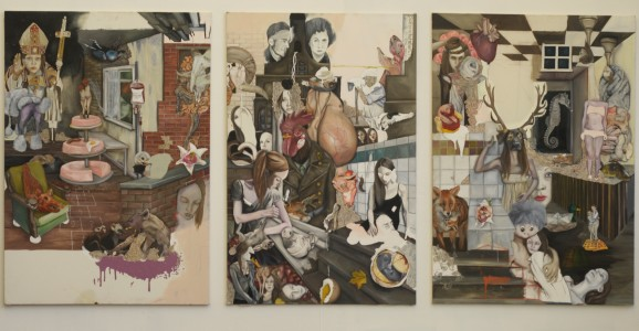the manifest of happy-painting ll (ein bewaffneter specht ist eine armee), 2013
