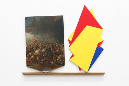 schlachtenszene vs. rot-gelb-blau, 2014
