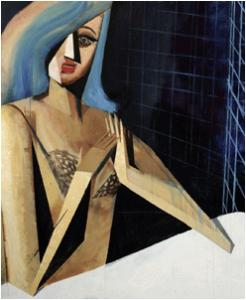 blaues portrait, 2011