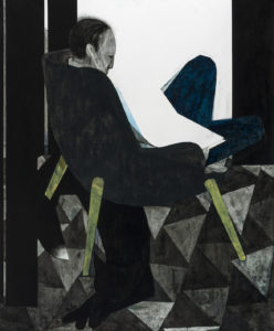 man reading / black fox, 2013
