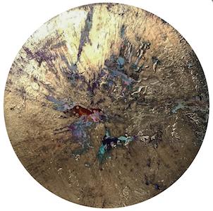 blue mercury peony (ion painting), 2018